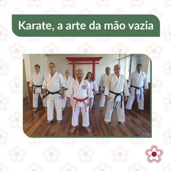 Karate é uma arte marcial japonesa (kara=vazio e te=mão) que pode ser entendida como a arte de lutar com as mãos vazias. O karate teve a sua origem na ilha de Okinawa, no Japão, e tem vários estilos. O estilo que o deixou mundialmente mais conhecido foi o estilo Shotokan, desenvolvido pelo mestre Gichin Funakoshi.